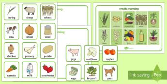 Types of Farming Sorting Mat  - Farms, farming, farmyard, types of farming, arable, livestock