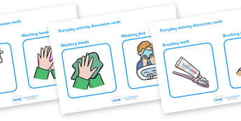 everyday activity, discussion cards, speech and language, free