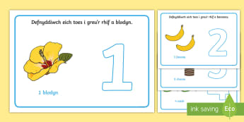 Matiau Toes Rhifau (1-10) - mat toes, toes, clai, corfforol, rhif, rhifedd, mathemateg,Welsh