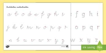 Arbeitsblatt Erstes Schreiben: Buchstaben und Zahlen nachspuren - Schreiben, Schreiben lernen, Schreibmotorik, Buchstaben schreiben, Buchstaben nachschreiben, Buchsta
