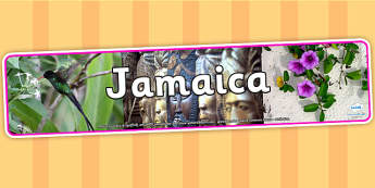 Jamaica Photo Display Banner - Jamaica, Display Banner, Banner, Jamaican Banner, Jamaican Display Banner, Display, Themed Banner, Photo Banner