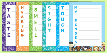My Senses Acrostic Poems Resource Pack
