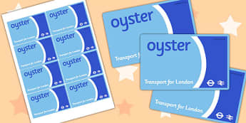 London Underground Oyster Card - roleplay, transport, props, game