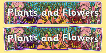 Plants and Flowers IPC Display Banner - plants and flowers, IPC display banner, IPC, plants and flowers display banner, IPC display