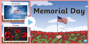 Memorial Day Words and Pictures PowerPoint - Memorial Day, words and pictures, soldiers, veterans, USA