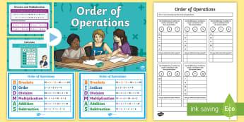 Order of Operations BODMAS BIDMAS Teaching Pack - order, operations, bodmas, bidmas, teaching, pack