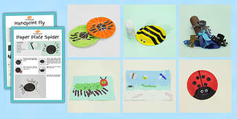 Minibeasts Craft Activity Pack - minibeast, crafts, activities