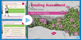 Year 5 Reading Assessment Poetry Term 1 Guided Lesson PowerPoint - Year 3, Year 4 & Year 5 Reading Assessment Guided Lesson PowerPoints, KS2, reading, read, assessment