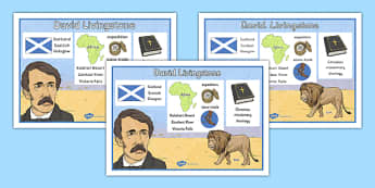 Scottish Significant Individuals David Livingstone Word Mat - Scottish significant individual, explorer, Christian missionary, Africa, Victoria Falls, Zambezi, slave trade, anti-slave