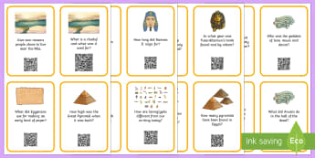How Well Do You Know Ancient Egypt? Code Hunter - QR Codes, scan, interactive, personal learning, questions, cards, display,  history, Ancient Egypt,