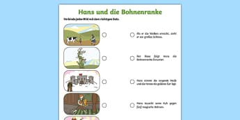 Jack and the Beanstalk German Activity Sheet Pack, worksheet