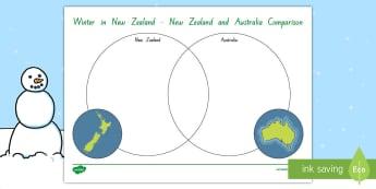 Winter Comparison New Zealand and Australia Activity - Seasons, Snow, Skiing, Snowboarding, Mountains, Ski Fields, Snow Day, Australia