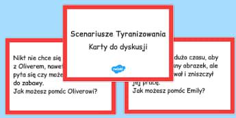 Karty do dyskusji Scenariusze Tyranizowania po polsku