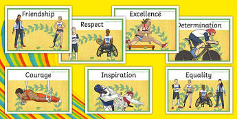 Olympics and Paralympics Values Display Posters - olympics, rio, 2016, value, values, behaviour, aspiration, games, summer, display, posters