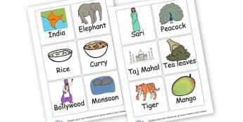 SEN India Vocab Cards - India Display Primary Resources, asia, indian, hindu, sikh