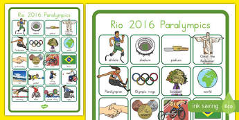 Paralympics Word Grid - australia, Paralympics, rio, 2016, sports, events, pe, words, vocabulary, medals, events, athletes, disability