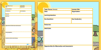 Harvest Themed Adult Led Focus Planning Template - autumn, plans