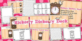 Hickory Dickory Dock - hickory dickory dock, pack, rhyme, song
