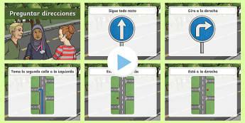 PowerPoint de direcciones - presentación, direccion, vocabulario