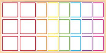 Blank Square Peg Labels