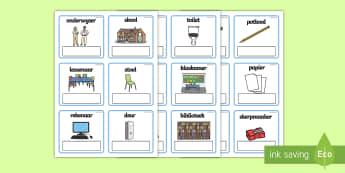 EAL Elke dag objekte in skool bewerkbaar kaarte - EAL Elke dag objeckte in skool bewerkbaar kaarte - elk dag, skool dag, redigeer, kaarte, skool objek