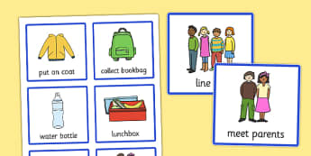Visual Timetable (Going Home) - going home, education, home school, child development, children activities, free, kids, special needs, special education, speech and language