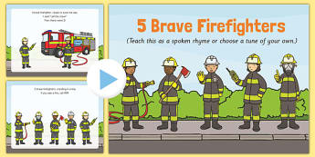 5 Brave Firefighters Rhyme PowerPoint