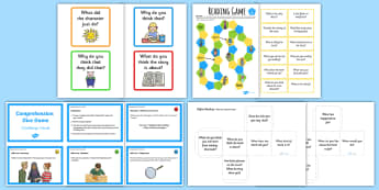 Reading Comprehension Games - comprehension, reading, questions, summary, guided reading,