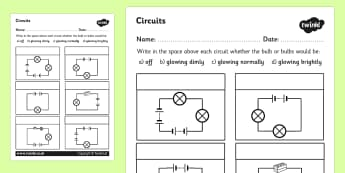 Electric Conductors Worksheets - electricity, conducting electricity, electricity worksheet, circuits worksheet, electricity conductors, circuits, ks2