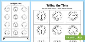 Half Past Times Analogue Clock Activity Sheet - Half Past Times Analog Clock Activity Sheet -  half past, times, activity,Timw, worksheet, telling