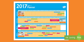 New Zealand Term 1 Calendar Planner - New Zealand, Back to School, new term, new year, planner, planning, calendar, events, dates