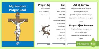 Roman Catholic Penance Prayer Book Print-Out -  prayer book, prayers, Confession, Penance, print out, Roman Catholic, prayer book, Irish