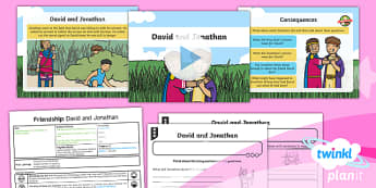 PlanIt - RE Year 1 -  Friendship Lesson 5: David and Jonathan (Christianity) Lesson Pack - RE Friendship, Christianity, relationships - RE Friendship, Christianity, relationships, David, Jonathon, friends