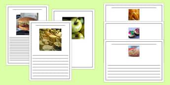 Photo Food Writing Frames - sorting, activity, activity, food