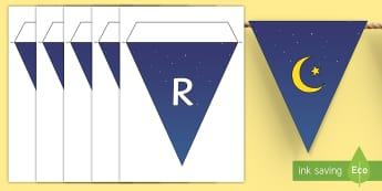 Ramadan Display Bunting - Islamic, Islam, fasting, lunar, calendar, Qur'an