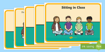 Social Story (Sitting in Class) - Behaviour management, self-awareness, self-calming, Autism, PSHE, SEN, social situations, social skills, story, stories