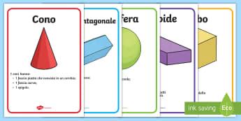 Forme geometriche 3D Poster - forme, geometriche, 3D, tridimensionali, sfera, cubo, italiano, italian, geometria, matematica,mater