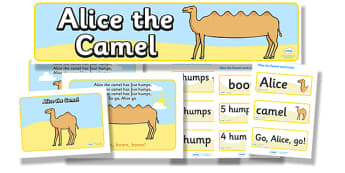 Alice The Camel Resource Pack - alice the camel, resource pack, pack of resources, themed resource pack, alice the camel pack, resources, nursery rhymes