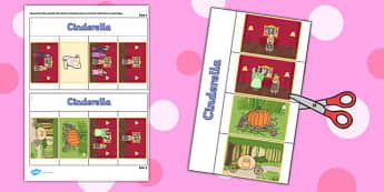 Cinderella Story Writing Flap Book - flap book, story, cinderella