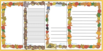 Fall Page Borders - Page border, border, fall, seasons, fall pictures, fall display, leaves, acorn, conker, atumn