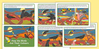 How the Birds Got Their Colours Story Cards-Australia