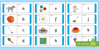 Alphabet Loop Cards - Alphabet Loop Cards, alphabet, letters, literacy, letter, a-z, learning letters, loop cards, cards, flashcards, loop, image