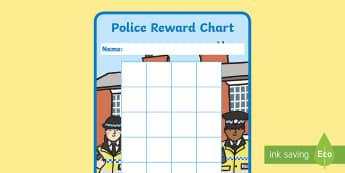 Police Sticker Reward Charts - Police Sticker Reward Charts - police Reward Chart, police, reward chart, chart, reward, 15mm, 15 mm