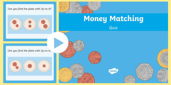 Money Matching 1p and 2p PowerPoint - Money Matching Activity Up To 10p - money, money matching, matching activity, matching game, 0-10, u