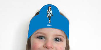 Family Role-Play Headbands - Family Role-Plays Headbands - headbands, role play, family, family role play, mum, dad, brother, sis