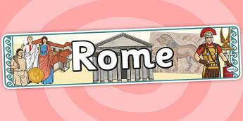 Rome Display Banner - rome, roman, display banner, banner
