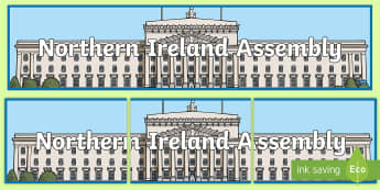 Northern Ireland Assembly Display Banner - NI Politics, Government, Assembly, Local, Election, Stormont