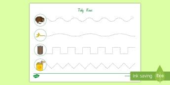 Tidy Kiwi Cutting Skills Activity - tidy kiwi, New Zealand, rubbish, recycling, Years 1-6, cutting skills, activity