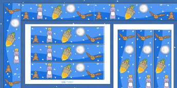 Display Borders to Support Teaching on Whatever Next! - Whatever Next!, Jill Murphy,  resources, space, baby bear, Large family, rocket, moon, owl, story, story book, story book resources, story sequencing, story resources, Display border, classroom