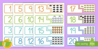 Tarjetas de emparejar: Los números - El transporte - transporte, coche, camión, avión, globo aerostático, autobús, moto, motocicleta, vía, carretera